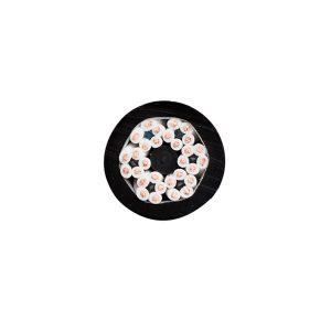 Black round festoon cable