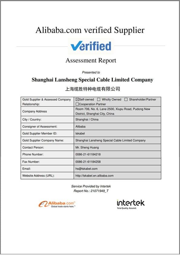 Factory assessment report, by Intertek